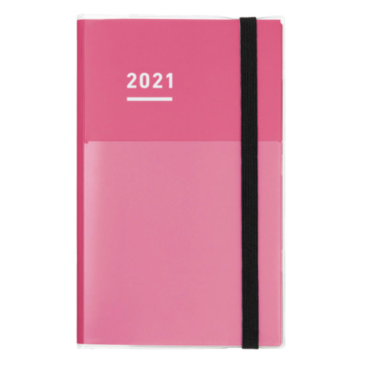 Kokuyo Jibun Techo 2021 Planner 3-in-1 Kit - B6 Slim (Pink) - The Desk Bandit