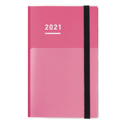 Kokuyo Jibun Techo 2021 Planner 3-in-1 Kit - A5 Slim (Pink) - The Desk Bandit