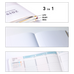 Jibun Techo 2020 Planner 3-in-1 Kit - A5 Slim (White)