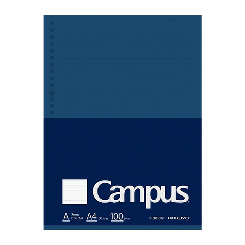 Campus Business A4 Loose Leaf - 7mm dotted rule (100 Sheets) - The Desk Bandit