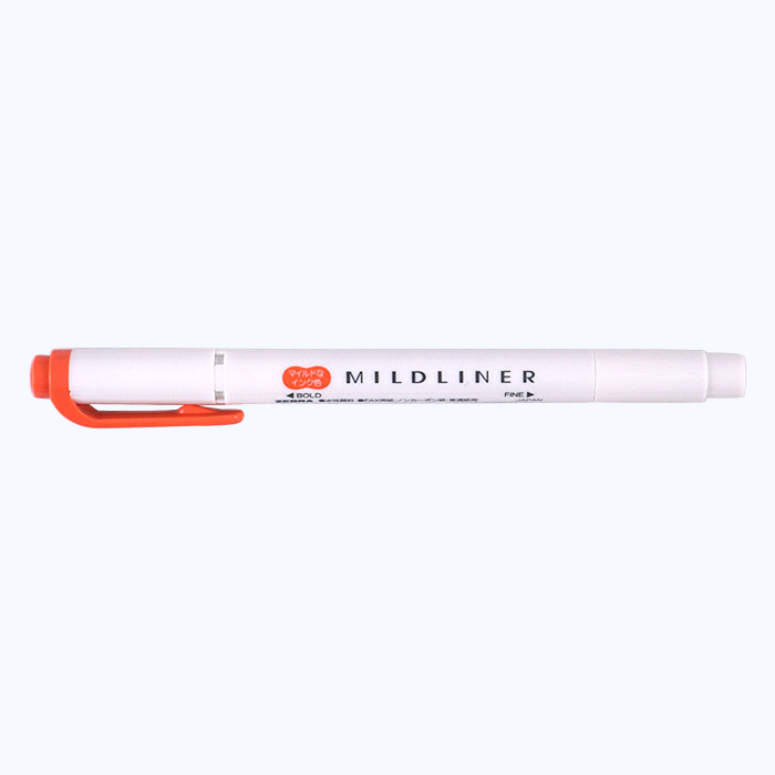 Zebra Mildliner - Vermillion - The Desk Bandit
