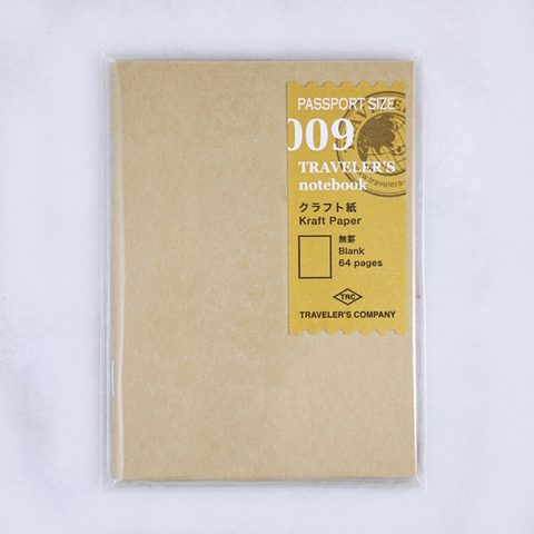 Traveler's Company #009 Kraft Paper Refill (Passport) - The Desk Bandit