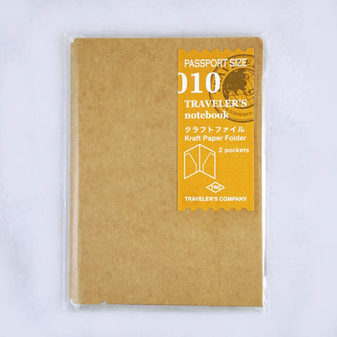 Traveler's Company #010 Kraft Folder (Passport) - The Desk Bandit