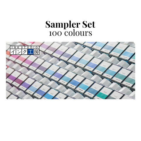 Sailor Ink Studio Sampler Set - 100 colours - The Desk Bandit