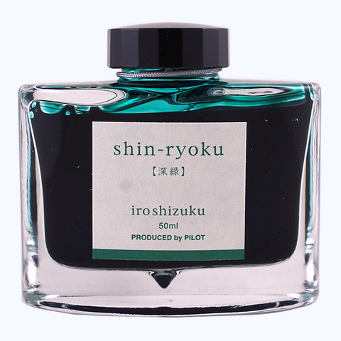 Pilot Iroshizuku Ink 50ml - Shin Ryoku - The Desk Bandit