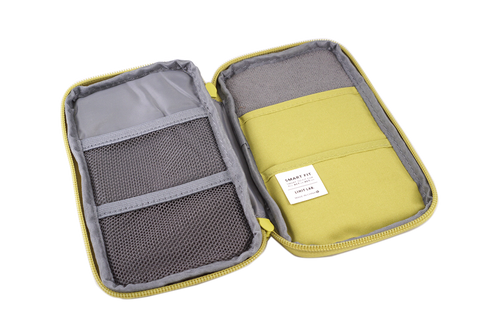 Lihit Lab Smart Fit Compact Pen Case (Yellow) - The Desk Bandit
