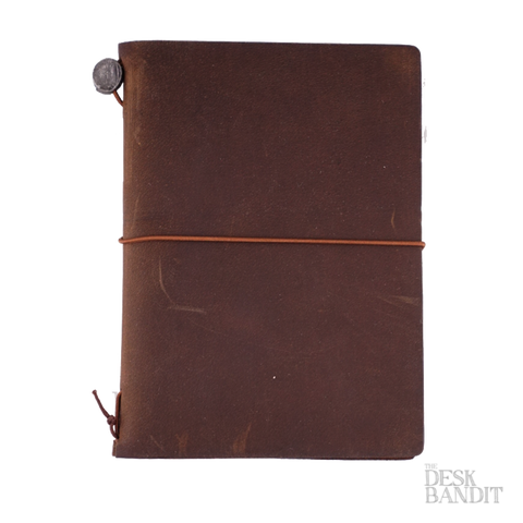 Traveler's Company Passport Leather Cover (Brown) - The Desk Bandit