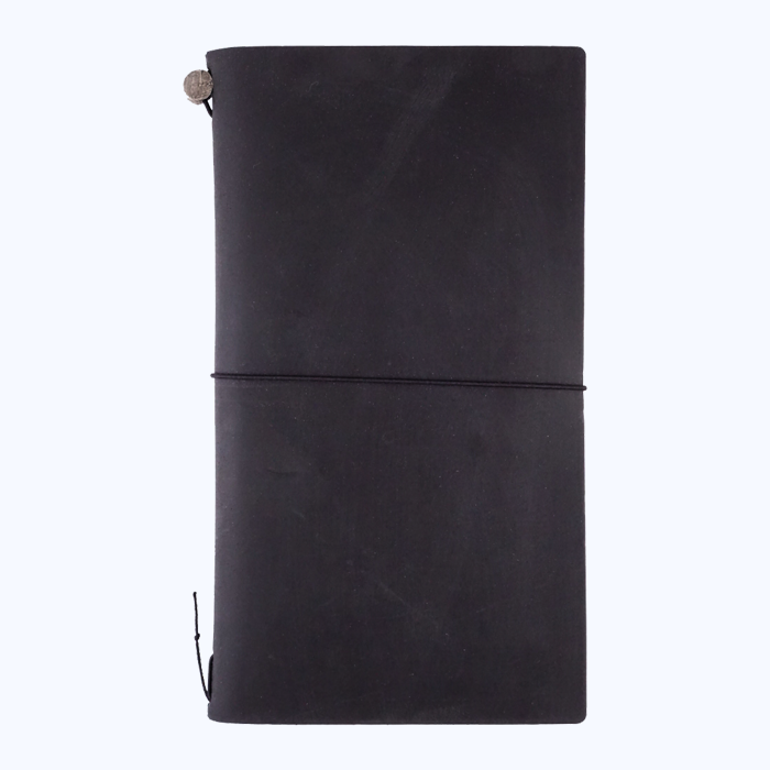 Traveler's Company Leather Cover (Black) - The Desk Bandit