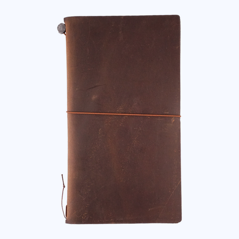 Traveler's Company Leather Cover (Brown) - The Desk Bandit