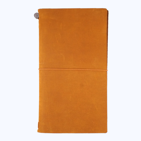 Traveler's Company Leather Cover (Camel) - The Desk Bandit