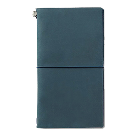 Traveler's Company Leather Cover (Blue) - The Desk Bandit