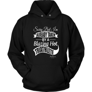 """Blazing Hot Triathlete"" Unisex Hoodie (Black)"
