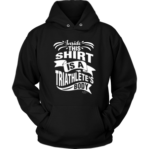 """Triathlete's Body"" Unisex Hoodie (Black)"