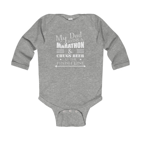 LIMITED EDITION Infant Long Sleeve Bodysuit (BEER/DAD)