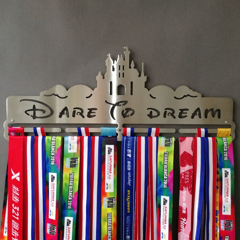 """DARE TO DREAM"" Medal Hanger (18.11"" STAINLESS STEEL)"