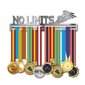 """NO LIMITS"" Medal Hanger (15.75"" STAINLESS STEEL)"