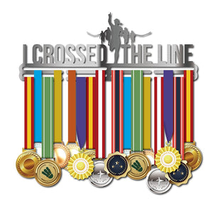 """I CROSSED THE LINE"" Unisex Medal Hanger (18.11""  STAINLESS STEEL)"
