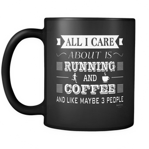 Black Mug 11oz (COFFEE&RUNNING)