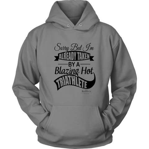 """Blazing Hot Triathlete"" Unisex Hoodie (Gray)"