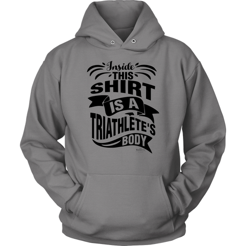 """Triathlete Body"" Unisex Hoodie (Gray)"