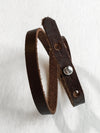 the wristband - dark brown