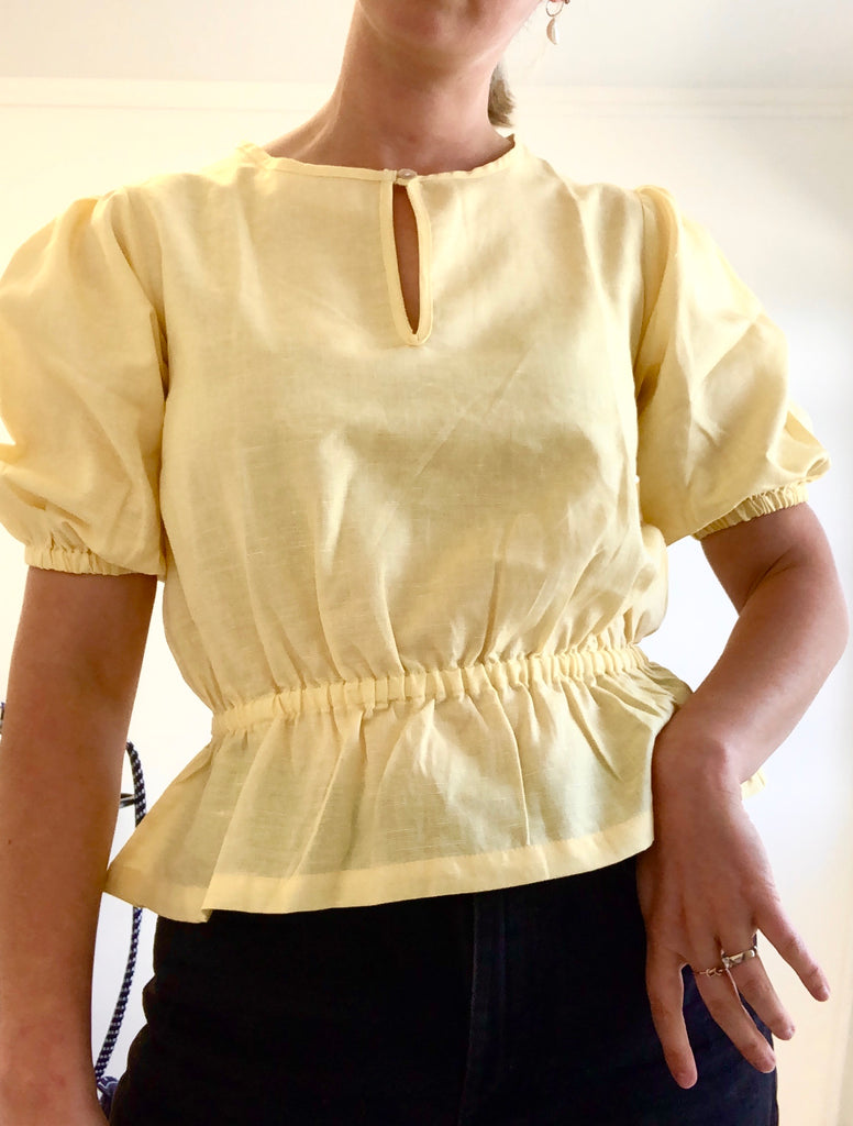 Puff Sleeve Blouse - Honeysuckle