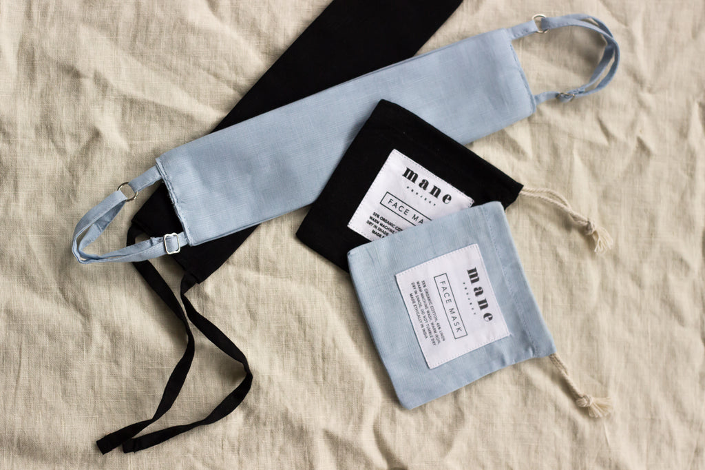 Reusable Face Mask - Bundle Pack: Black & Powder Blue