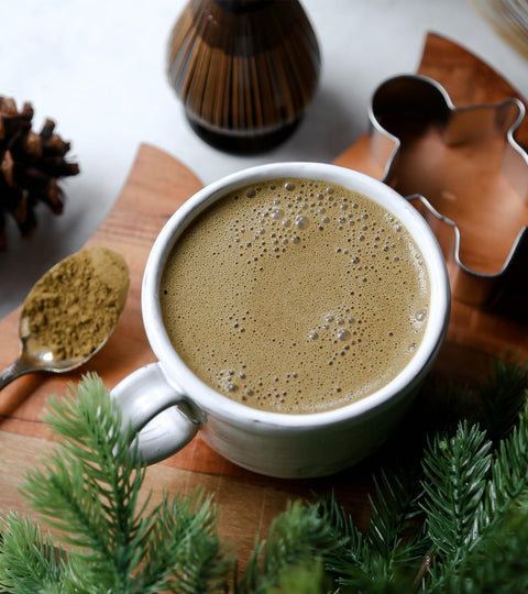 Gingerbread Hojicha Latte Recipe