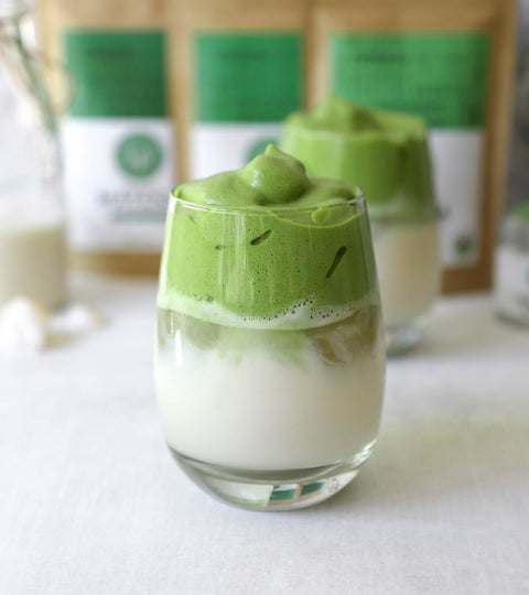 Matcha Dalgona Drink Recipe