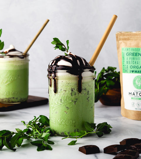 Vegan Matcha Mint Shake Recipe