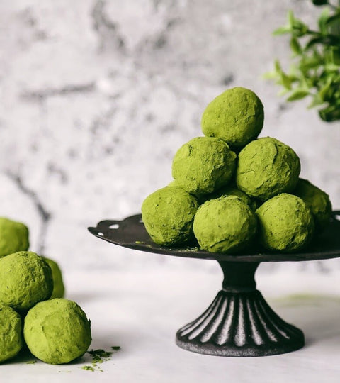 Matcha pumpkin bliss balls recipe