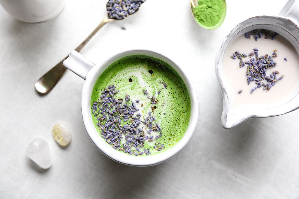 CBD Lavender & Honey Matcha Latte