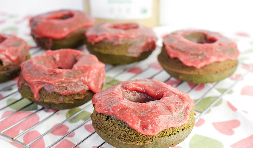 Gluten-free matcha donut recipe ingredients