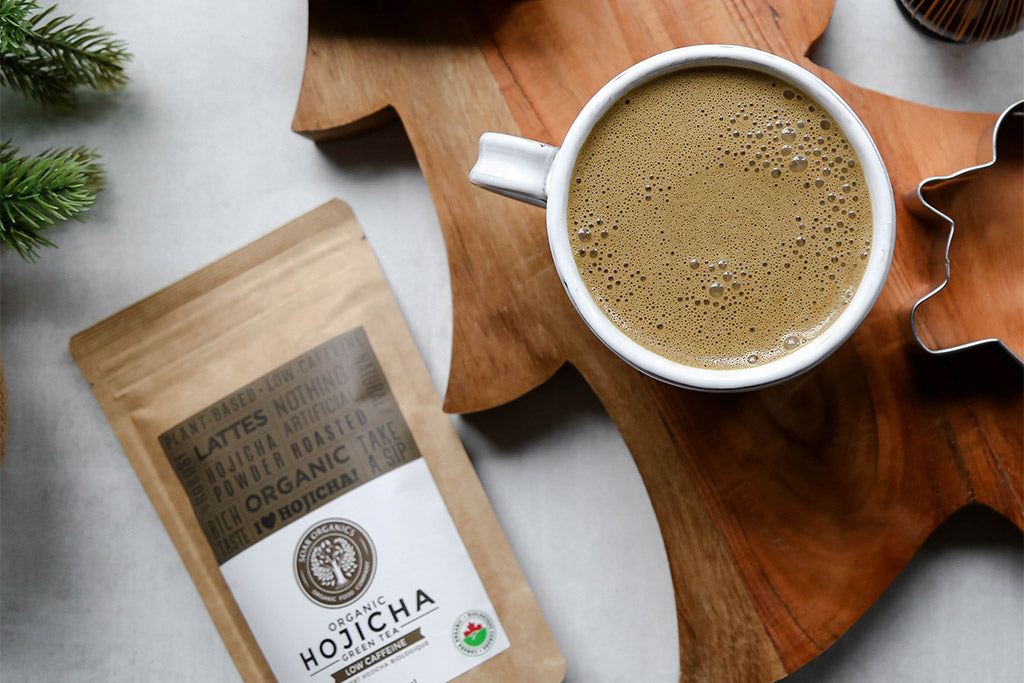 Soar Organics Hojicha Powder Latte Recipe