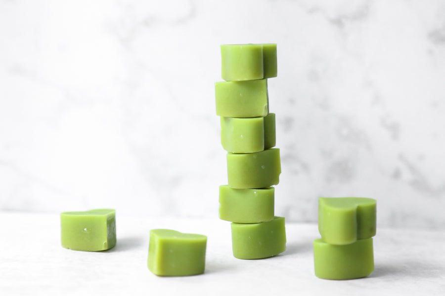Mini matcha fat delights stacked