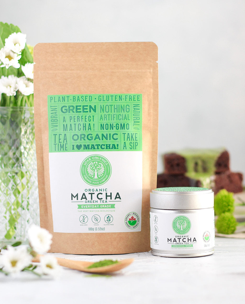 Soar Organics matcha brownie glaze recipe