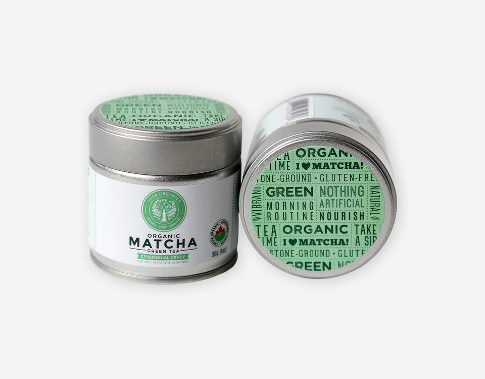 Soar Organics Ceremonial Matcha Powder tin front