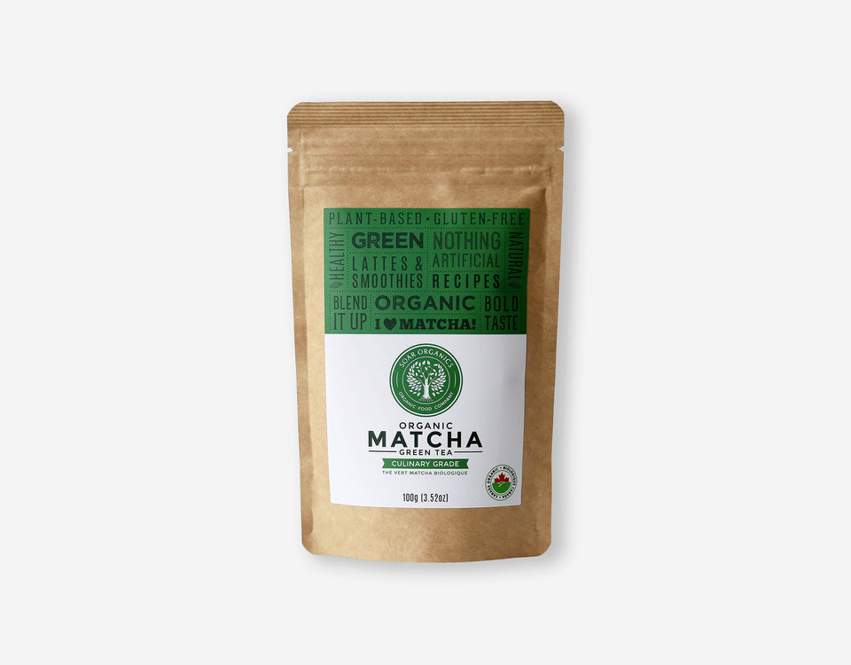 Soar Organics Culinary Matcha Powder front label