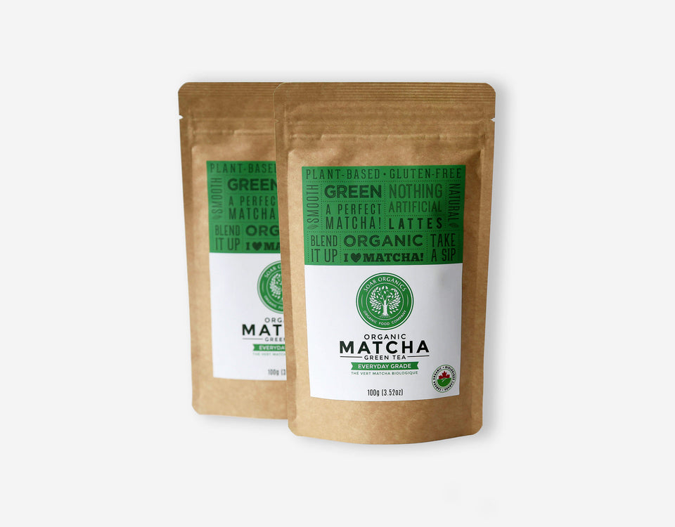 Soar Organics Everyday Matcha Powder front label
