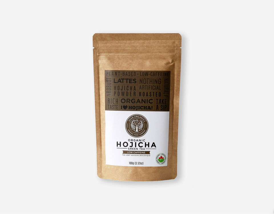 Soar Organics Hojicha Powder front label