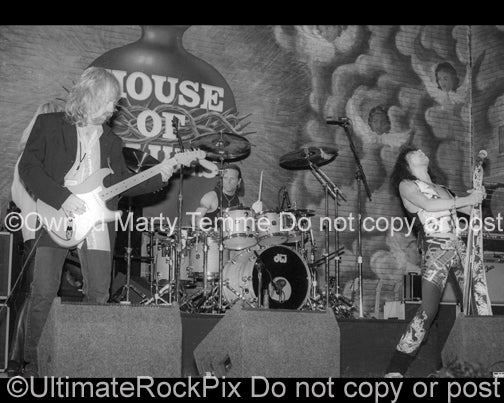 Photo of Brad Whitford, Joey Kramer and Steven Tyler of Aerosmith in 1994 by Marty Temme