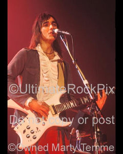 Photo of Jimmy Crespo of Aerosmith in 1980 by Marty Temme