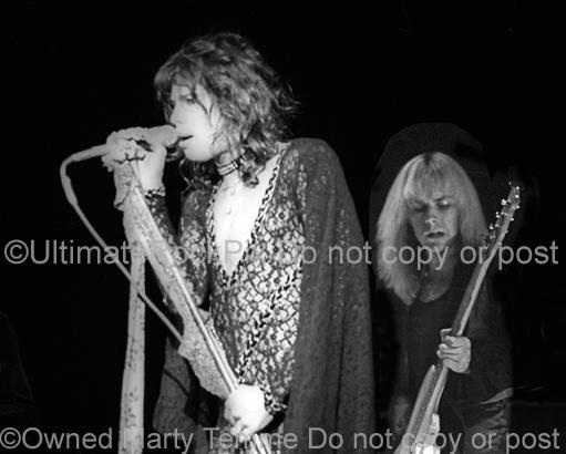Photos of Steven Tyler and Tom Hamilton of Aerosmith in 1974 by Marty Temme