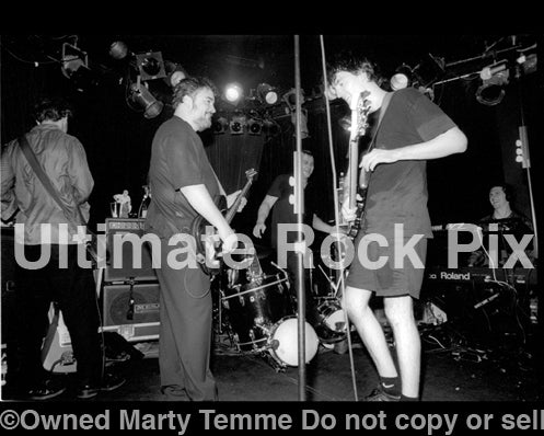 Photo of Greg Dulli and The Afghan Whigs in concert in 1999 by Marty Temme