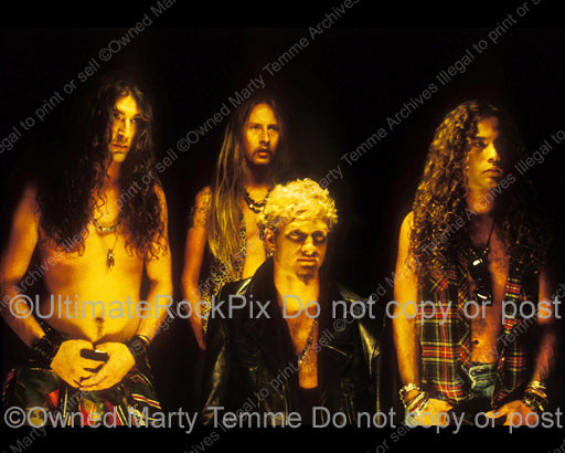 Photo of Alice in Chains during a photo shoot in 1991 by Marty Temme