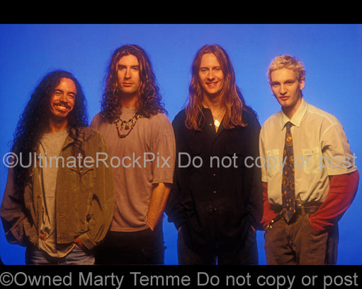 Photo of the band Alice In Chains during a photo shoot in 1995 by Marty Temme