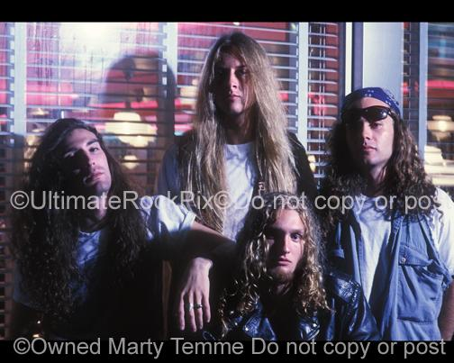 Photos of Alice in Chains During a Photo Shoot in 1990 in Hollywood, California by Marty Temme