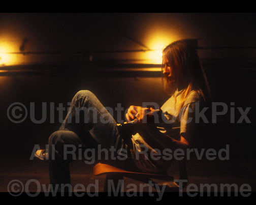 Photo of guitarist Jerry Cantrell of Alice in Chains during a photo shoot in 1996 by Marty Temme