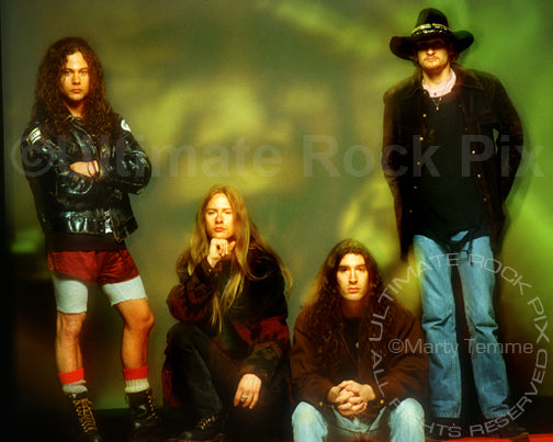 Photo of Alice in Chains during a photo shoot in 1993 by Marty Temme