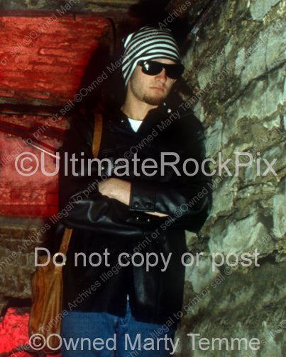 Photo of Layne Staley during a photo shoot in 1993 in the historic Seattle Underground by Marty Temme